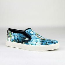 f8512c5121b Gucci Supreme GG Canvas Bloom Print Blue Flower Slip On Sneakers 407362 8471