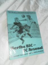 Hertha BSC Berlin v Arsenal 1967 amistoso