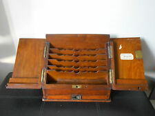 Rare Antique Walnut Desktop Stationery Cabinet Box Mile End Pharmacy London