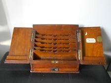 Rare Antique Walnut Desktop Stationery Cabinet Box Mile End Pharmacy London