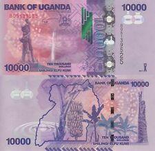 Uganda 10000 Shillings (2017) - Tribal Carving/Banana Trees/p52-New UNC