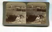 Vintage Stereoview HAWAII 1896 VOLCANO KILAUEA BRIDGE FORMED BY LAVA FLOW