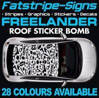 LAND ROVER FREELANDER GRAPHICS ROOF STICKER BOMB STRIPES DECALS TD4 LR2 4x4 2.0