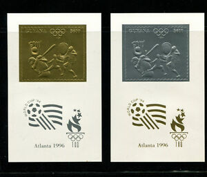 Guyana(1993)1996 Olympics Michel 4294-99var  COLOR ERROR 6 PERF DELUXE SHEETS