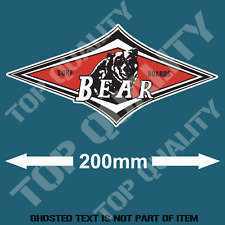 BEAR SURFBOARDS Decal Sticker Vintage Americana Hot Rod Rat Rod Surfing Woody