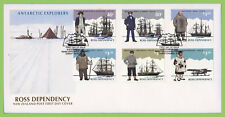 Ross Dependency 1995 Antarctic Explorers set on First Day Cover