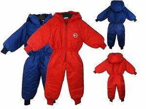 Winter Baby Boy Girl Kids Warm Hooded snowsuit Toddler Padded  Waterproof 6-12M