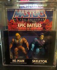 He-Man Skeletor AFA 85 Archival Epic Battles Super7 MOTU Masters of Universe
