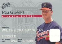 Tom Glavine 1995 Studio Donruss #182 Atlanta Braves Baseball Card