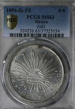 Gorgeous 1896 Mexico 8 Reales - Zacatecas Mint - PCGS MS63!!