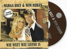 MARGA BULT & WIM RIJKEN - Wie weet wat liefde is CD SINGLE 2TR Enh Holland 2006