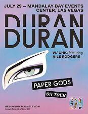 "DURAN DURAN / CHIC ""PAPER GODS ON TOUR"" 2016 LAS VEGAS CONCERT POSTER"