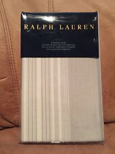 RALPH LAUREN Dune Lane Light Gray & White Standard Pillow Sham Jamesport $115