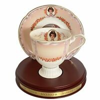 Avon Honor Society Mrs. Albee Tea Cup & Saucer Set With Stand By Nikko Japan
