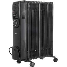 VonHaus Oil Filled Radiator 11 Fin 2500W Portable Electric Heater with Timer