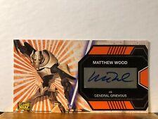 Matthew Wood as Grievous Star Wars Clone Wars Widevision Autograph Card Topps