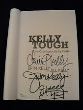 Kelly Tough Book Autographed Jim Erin Jill Kelly Buffalo Bills/ JSA