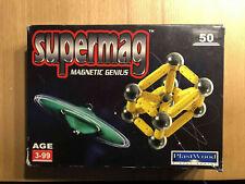 Supermag Magnetspiel Baukasten Magnet Magnetic Genius 50-teilig Plastwood