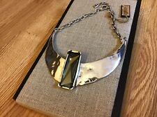 "NWT Uno de 50 Silver-plated Choker w/ Smoke Swarovski Crystal ""Osiris"" $550"