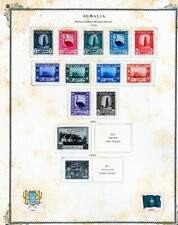 Somalia Stamps Mint Sets 1959-1970 Sets on pages