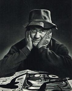 1960s Vintage Joan Miro Portrait Artist Art Karsh Photogravure Photo Print