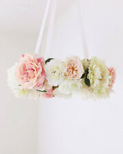 Shabby Chic Flower mobile, floral baby mobile, bohemian, nursery decor, baby