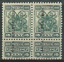 Mexico 1929 Revenue 2c Agua Prieta pair MNH
