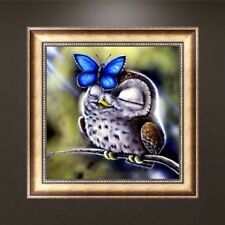 DIY 5D Diamond Embroidery Owl Butterfly Painting Cross Stitch Craft Home Decor