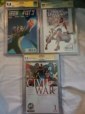 Lot of 3 cbcs graded mint 9.8 comics spider- man iron fist captain america