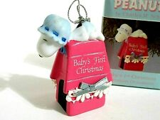 Snoopy Peanuts Charlie Brown Willitts Vintage Porcelain Christmas Ornament 1989