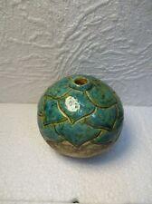 Ancien petit vase en céramique signé m Perret St Paul