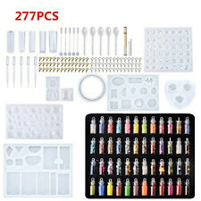277PCS Resin Casting Molds Silicone DIY Mold Jewelry Pendant Mould Making Craft