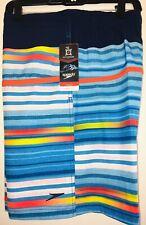 "Speedo E-Board 19"" Swim Trunks UV 50+ 4 Way Stretch Surf Shorts New Medium $59"