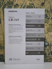 ONKYO CR -545 Bedienungsanleitung Instruction Owners Manual