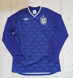 "*NEW* England 2012/2013 ""L"" Goalkeeper Jersey ""42"" Umbro GK Shirt Long Sleeve"