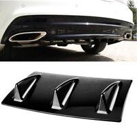 Universal Car Lower Rear Body Bumper Lip Diffuser Shark Fin Spoiler Gloss New x1