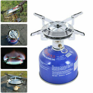PORTABLE MINI STOVE COMPACT CAMPING HIKING FISHING BBQ GAS HEATER COOKER OUTDOOR