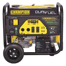 champion 100297 8000 w electric start dual fuel portable generator