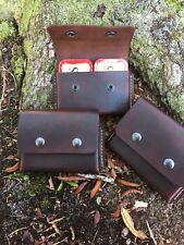 One (1) Leather belt pouch For 2 Altoids Tins,hiking camping bushcraft survival