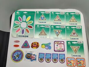 Lot of 31 Unused Girl Scout Patches - Michigan Cookies Brownies Badge Retired