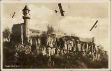 W�rttemberg Germany Teck Castle & Airplanes Monoplanes Real Photo Postcard