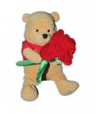 COLLECTOR 2002 - Peluche St Valentin - Doudou Winnie l'Ourson Rose rouge 20 cm D