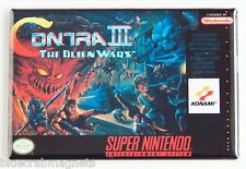 Contra 3 Alien Wars FRIDGE MAGNET (2.5 x 3.5 inches) video game box snes