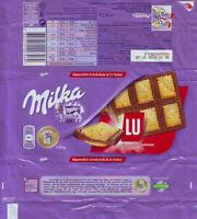 Plastic Chocolate Wrapper / Schokoladenpapier: Milka Milk + LU; 87g CE Ed; 2014
