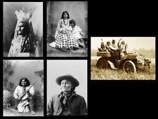 GERONIMO 5 PHOTOS Lot Apache Chief, Native American Indian Leader PHOTO Lot
