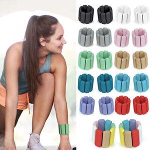 2pcs Yoga Pilates Weighted Bracelet Training Exercise Sport Wrist Strap Silicone