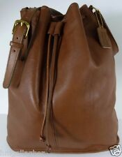 COACH Vintage Drawstring Sac Large #4010 Cocoa Leather ~ 1987 USA ~ XLNT!
