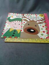 Christmas Elf Jolly Holidays Coloring Fun Activity Book lot of 2