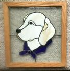 """BEAUTIFUL Hand Crafted 16"""" x 15"""" GOLDEN LABRADOR RETREIVER in Wooden Frame"""