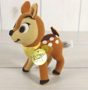 Vintage Walt Disney 1970's Bambi Stuffed Animal Plush #0223-9056 With Hang Tag